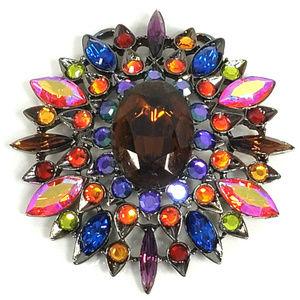 Chico's Flower Pendant Sunburst Design AB Crystals